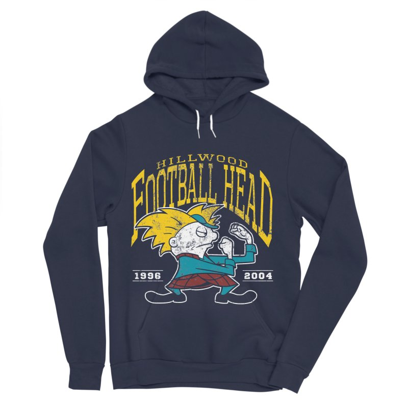 Football Head Men's Pullover Hoody by Stephen Hartman Illustration Shop