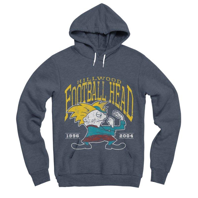 Football Head Women's Sponge Fleece Pullover Hoody by Stephen Hartman Illustration Shop