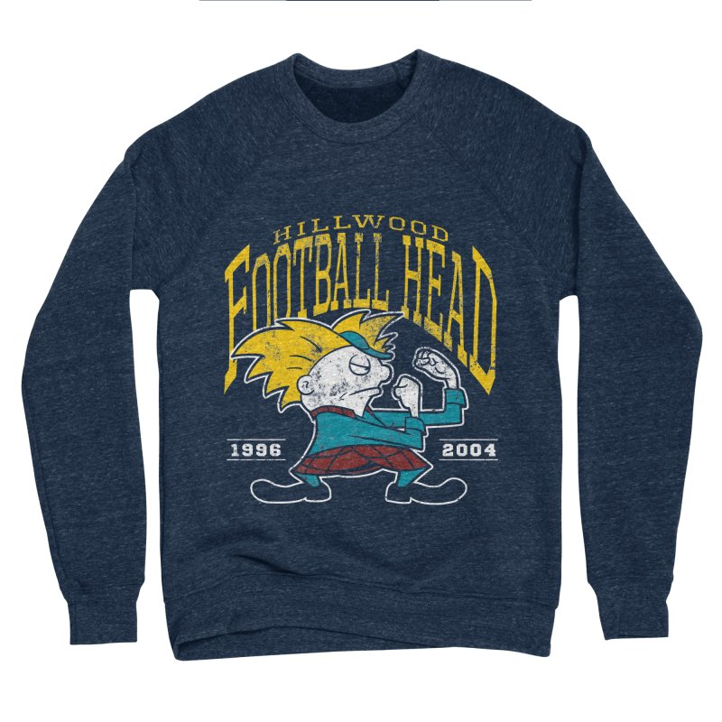 Football Head Men's Sponge Fleece Sweatshirt by Stephen Hartman Illustration Shop