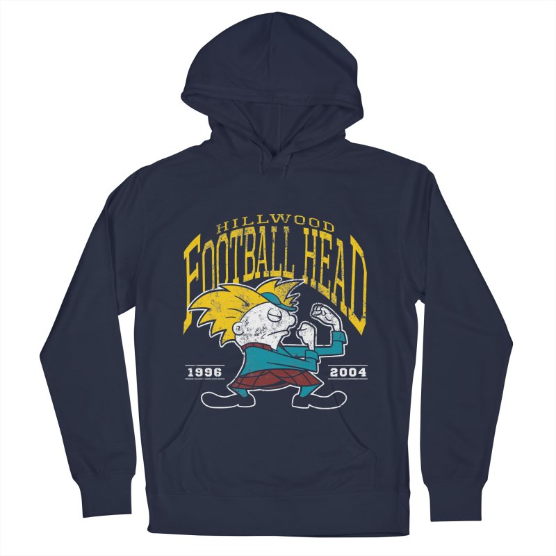 Football Head Women's French Terry Pullover Hoody by Stephen Hartman Illustration Shop