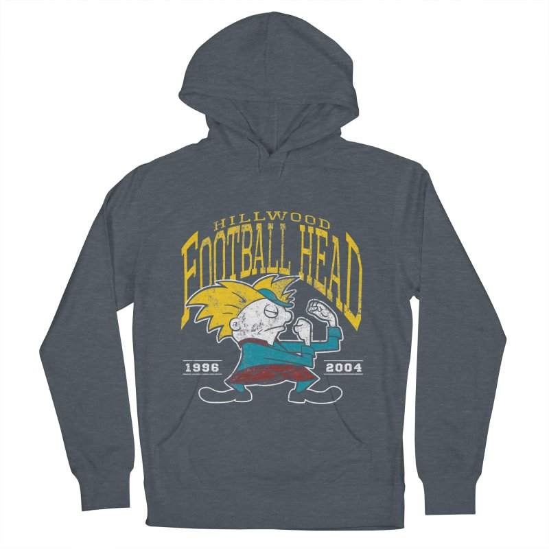 Football Head Men's French Terry Pullover Hoody by Stephen Hartman Illustration Shop