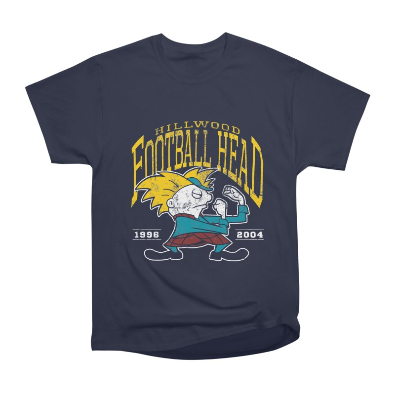 Football Head Men's Heavyweight T-Shirt by Stephen Hartman Illustration Shop