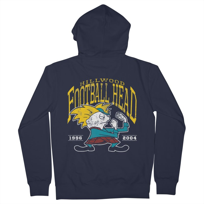 Football Head Women's French Terry Zip-Up Hoody by Stephen Hartman Illustration Shop