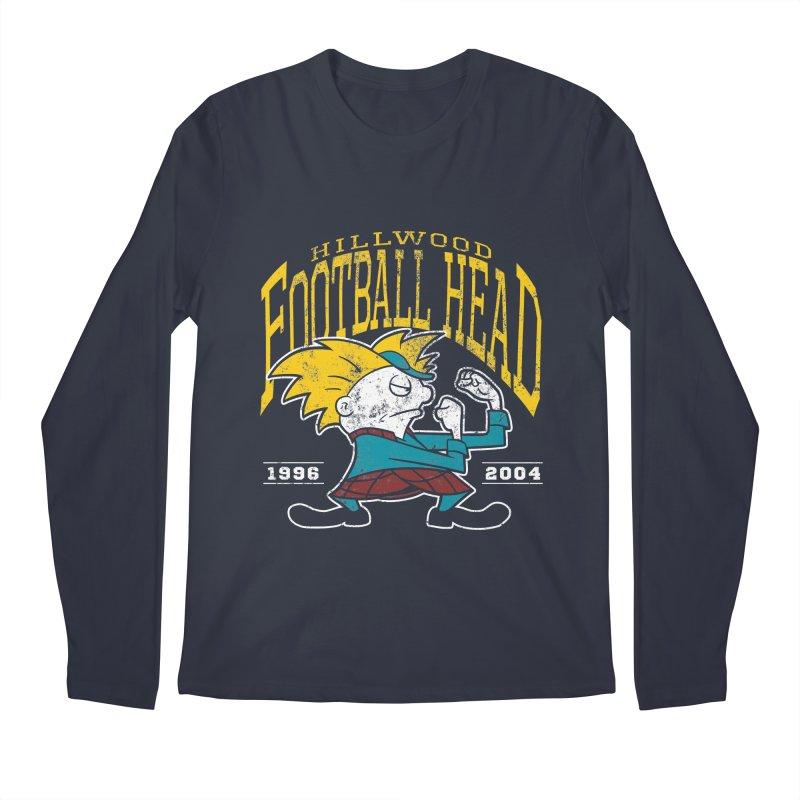 Football Head Men's Regular Longsleeve T-Shirt by Stephen Hartman Illustration Shop