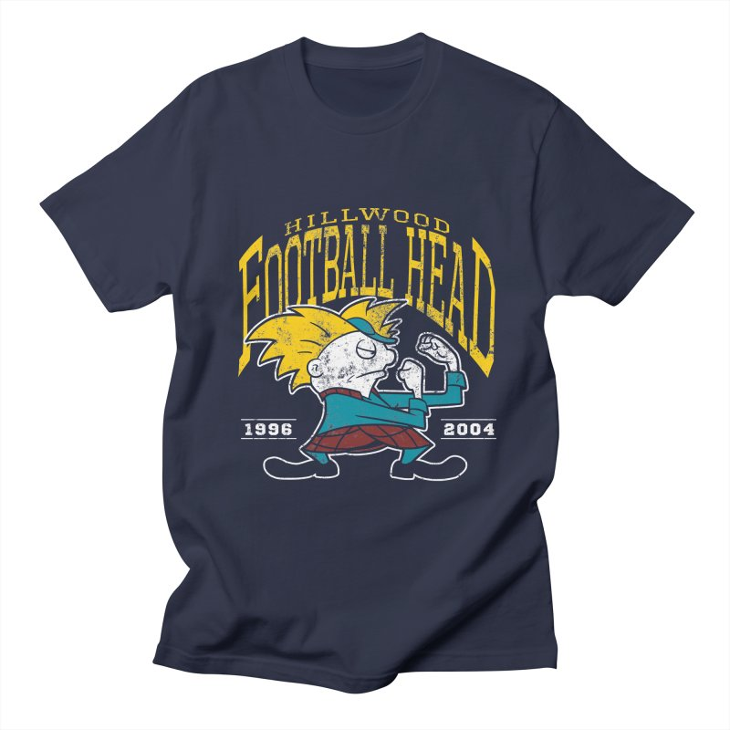 Football Head Men's Regular T-Shirt by Stephen Hartman Illustration Shop