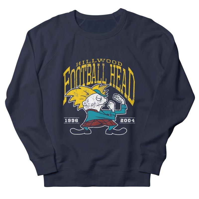 Football Head Women's French Terry Sweatshirt by Stephen Hartman Illustration Shop