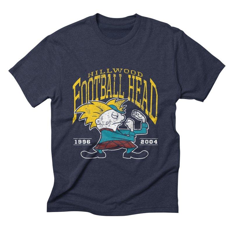 Football Head Men's Triblend T-Shirt by Stephen Hartman Illustration Shop