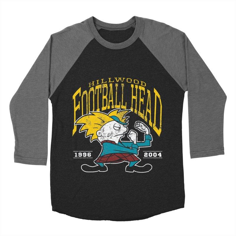 Football Head Men's Baseball Triblend Longsleeve T-Shirt by Stephen Hartman Illustration Shop
