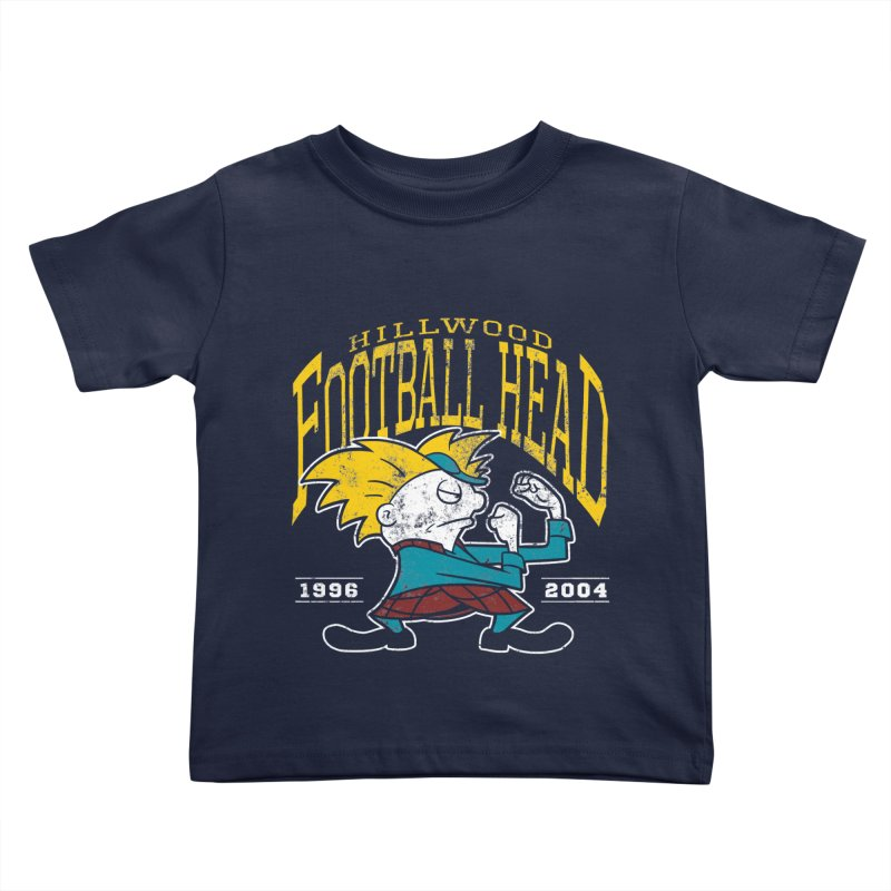 Football Head Kids Toddler T-Shirt by Stephen Hartman Illustration Shop