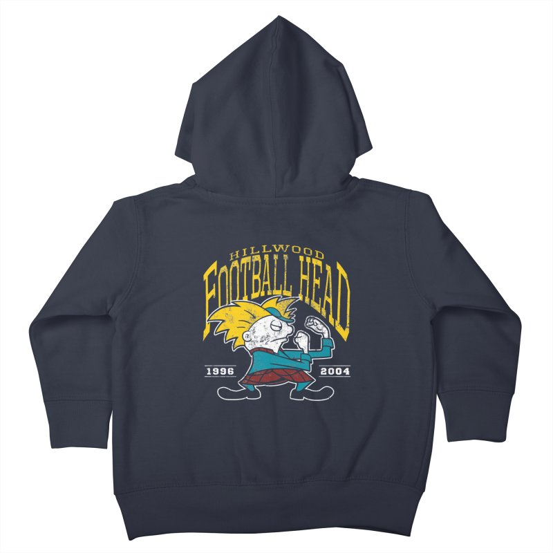 Football Head Kids Toddler Zip-Up Hoody by Stephen Hartman Illustration Shop