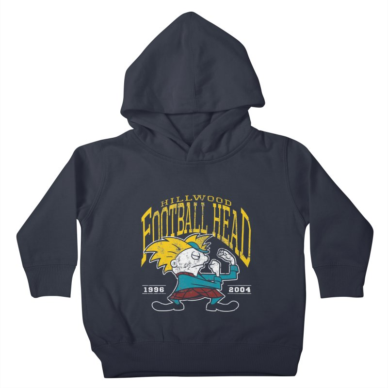 Football Head Kids Toddler Pullover Hoody by Stephen Hartman Illustration Shop