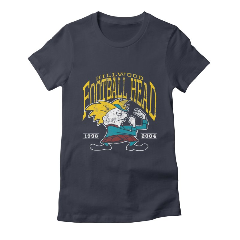 Football Head Women's Fitted T-Shirt by Stephen Hartman Illustration Shop