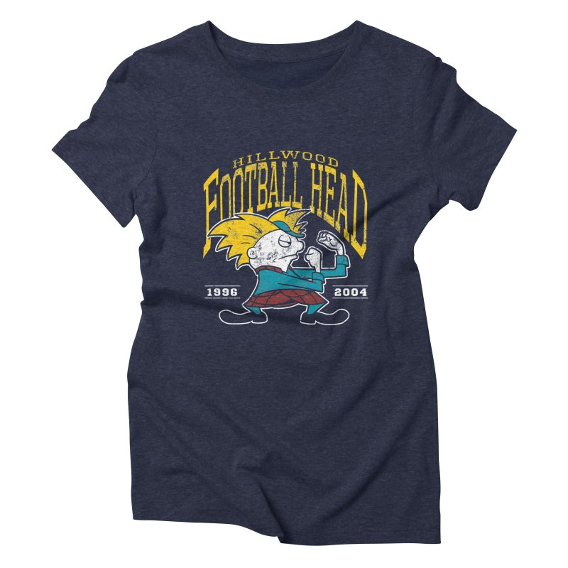 Football Head Women's Triblend T-Shirt by Stephen Hartman Illustration Shop
