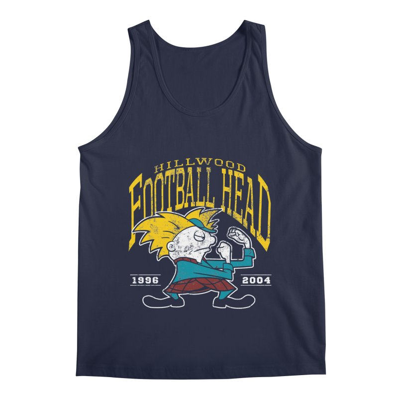 Football Head Men's Regular Tank by Stephen Hartman Illustration Shop
