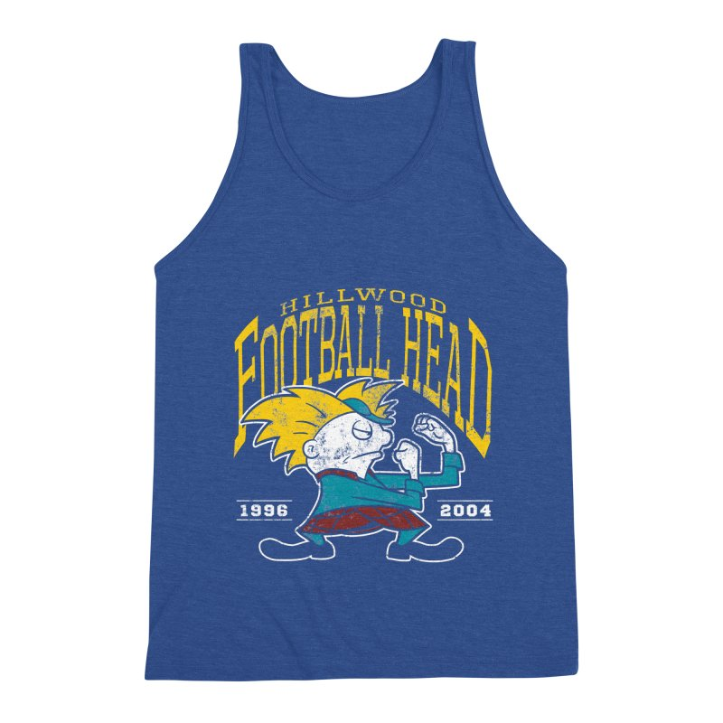 Football Head Men's Triblend Tank by Stephen Hartman Illustration Shop