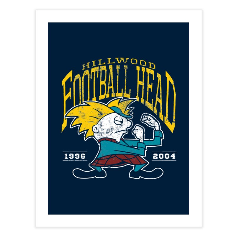Football Head Home Fine Art Print by Stephen Hartman Illustration Shop