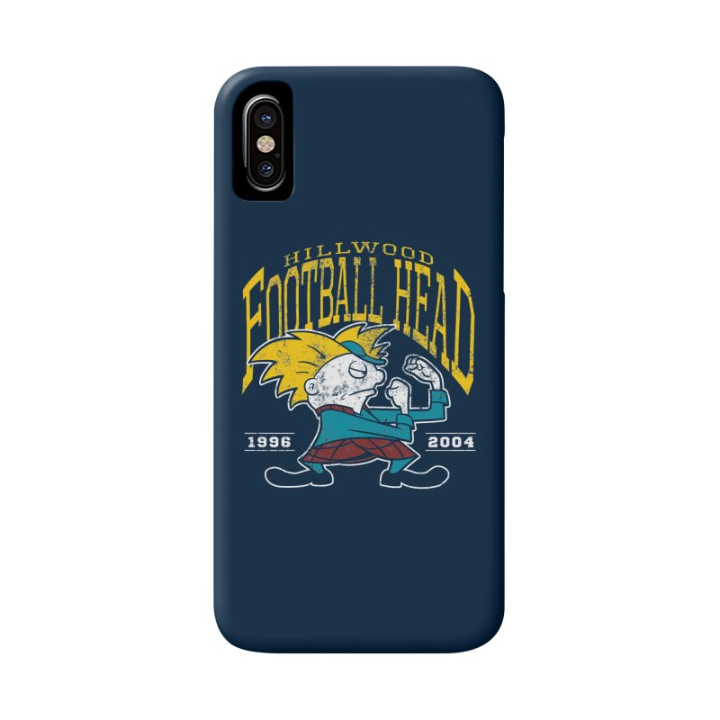 Football Head Accessories Phone Case by Stephen Hartman Illustration Shop
