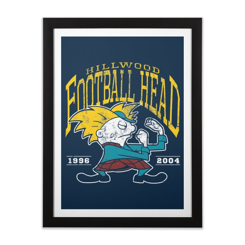 Football Head Home Framed Fine Art Print by Stephen Hartman Illustration Shop