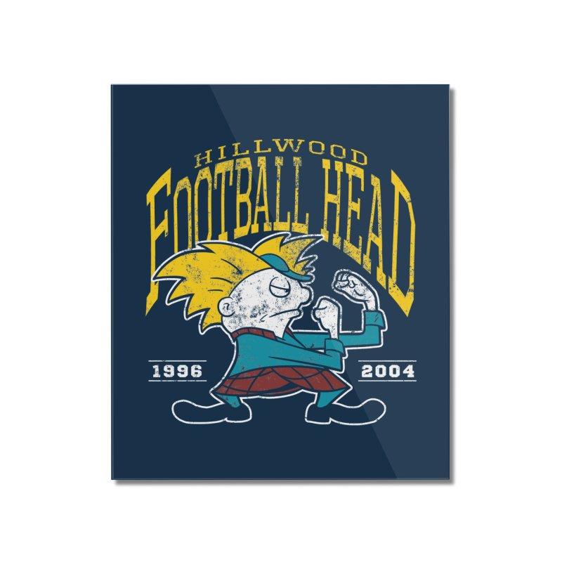 Football Head Home Mounted Acrylic Print by Stephen Hartman Illustration Shop