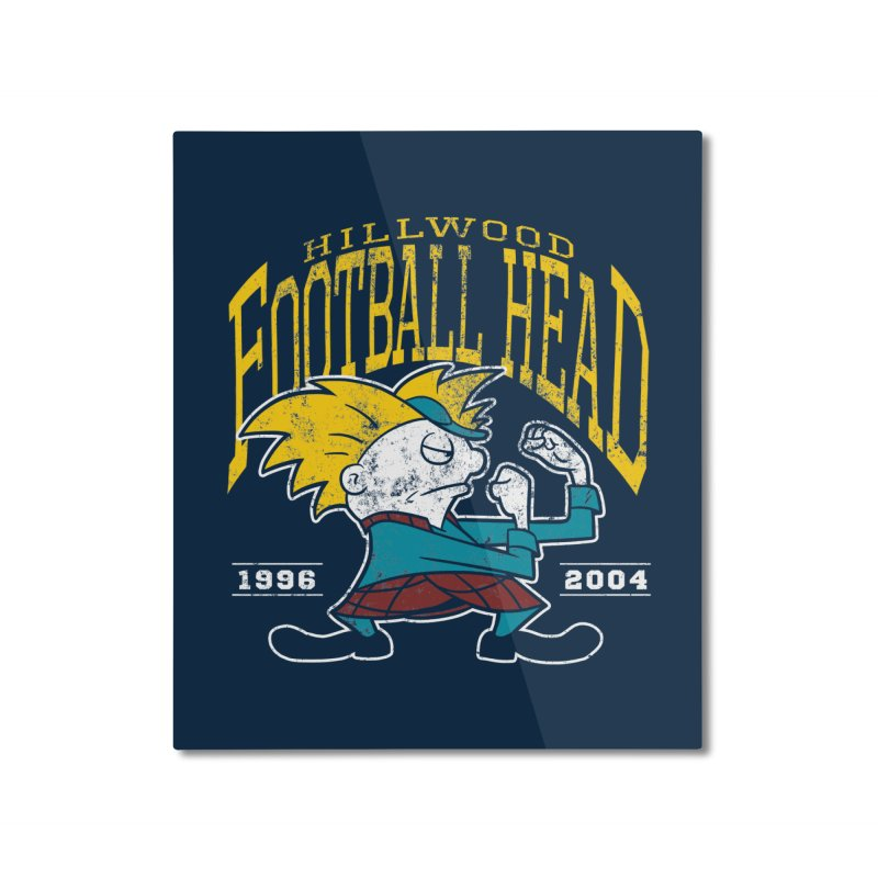 Football Head Home Mounted Aluminum Print by Stephen Hartman Illustration Shop