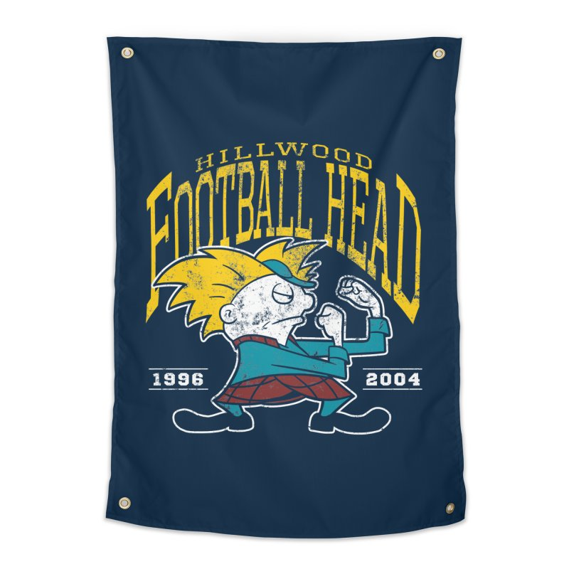 Football Head Home Tapestry by Stephen Hartman Illustration Shop