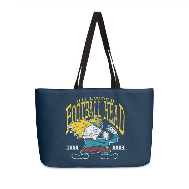 Football Head Accessories Weekender Bag Bag by Stephen Hartman Illustration Shop