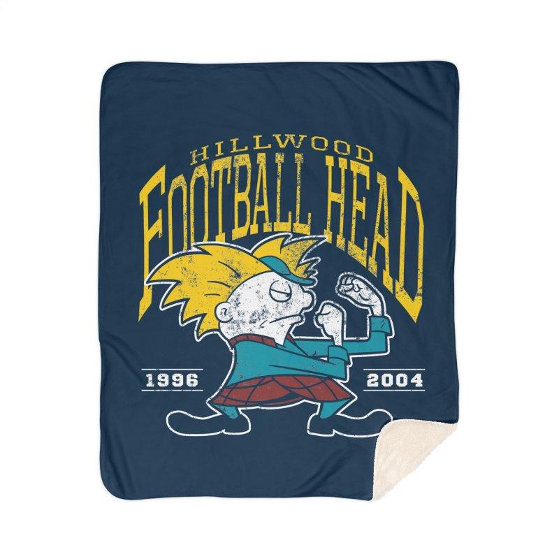 Football Head Home Sherpa Blanket Blanket by Stephen Hartman Illustration Shop