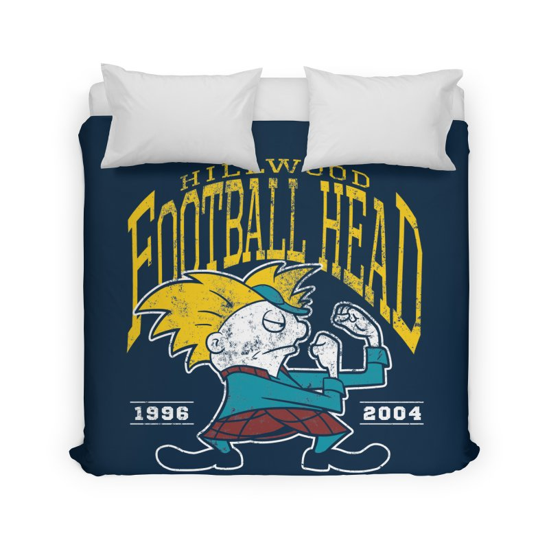 Football Head Home Duvet by Stephen Hartman Illustration Shop
