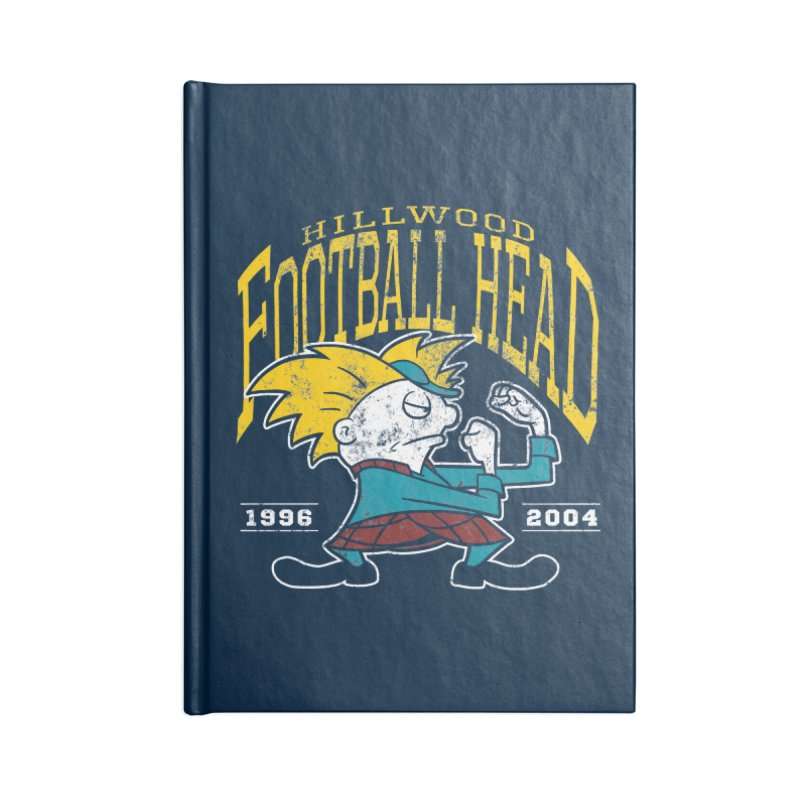 Football Head Accessories Lined Journal Notebook by Stephen Hartman Illustration Shop