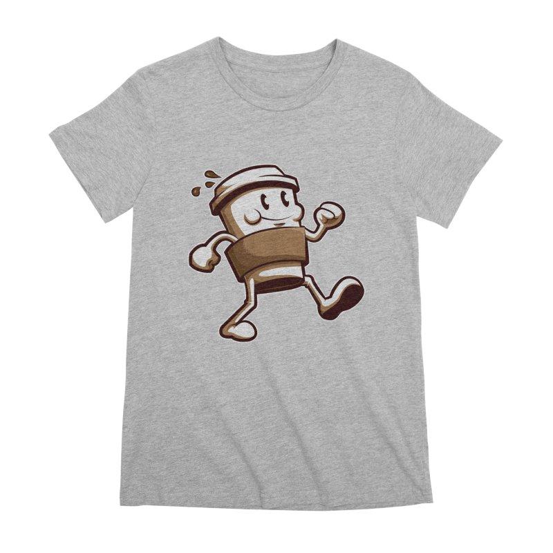 Joe on the Go Women's Premium T-Shirt by Stephen Hartman Illustration Shop