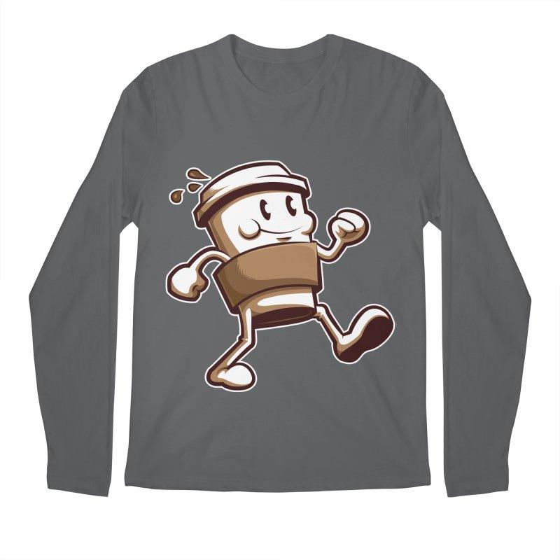 Joe on the Go Men's Regular Longsleeve T-Shirt by Stephen Hartman Illustration Shop