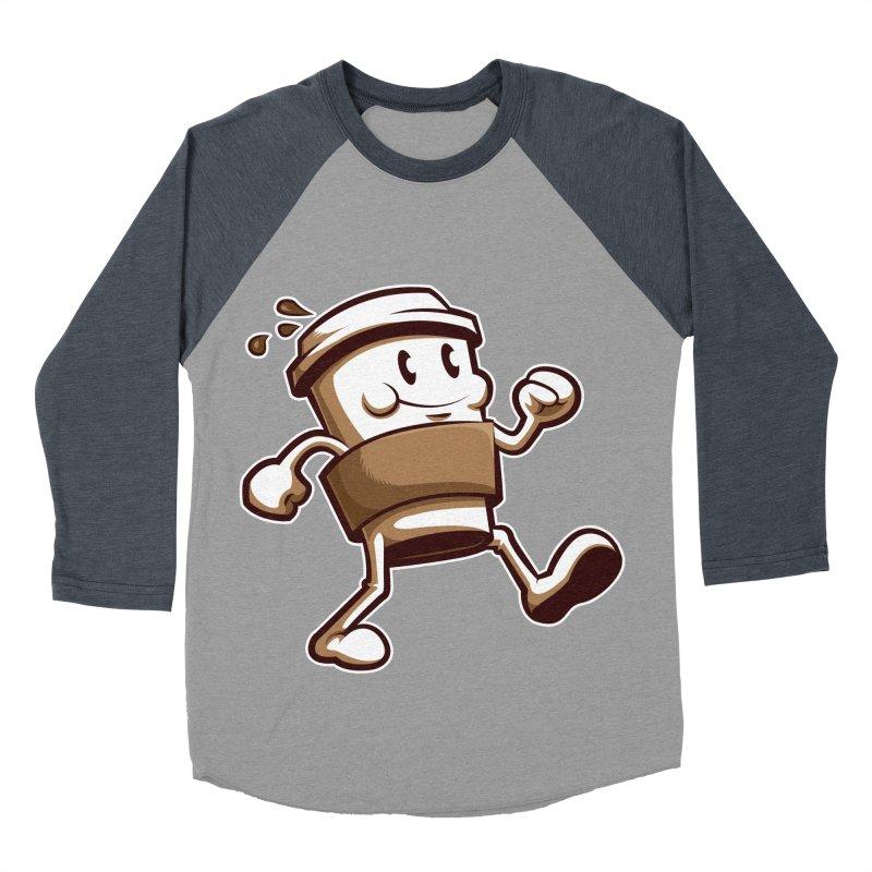Joe on the Go Men's Baseball Triblend Longsleeve T-Shirt by Stephen Hartman Illustration Shop