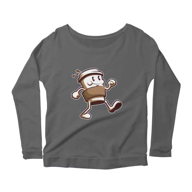 Joe on the Go Women's Scoop Neck Longsleeve T-Shirt by Stephen Hartman Illustration Shop