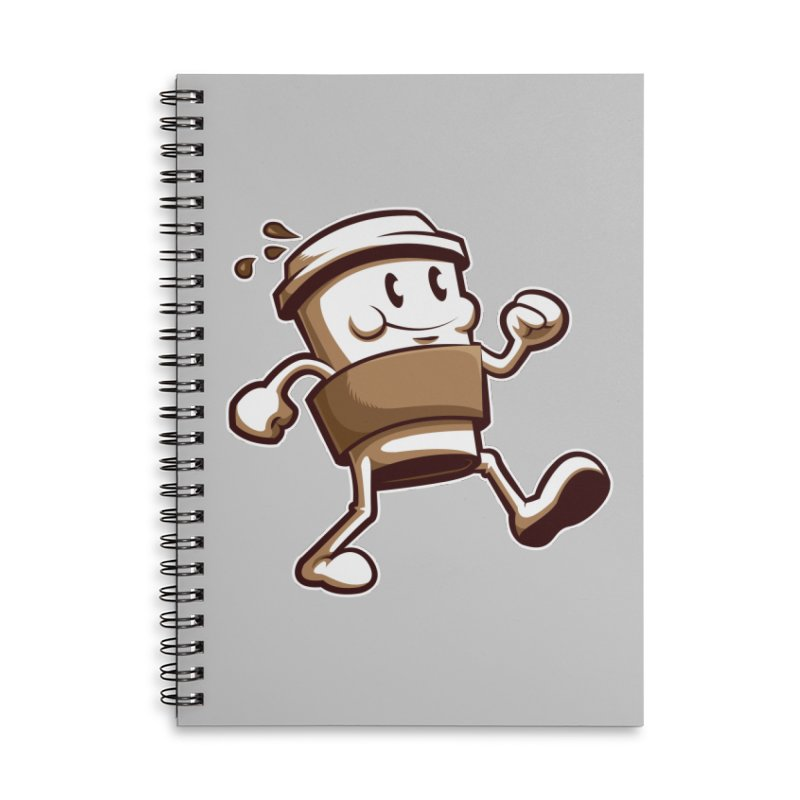 Joe on the Go Accessories Lined Spiral Notebook by Stephen Hartman Illustration Shop