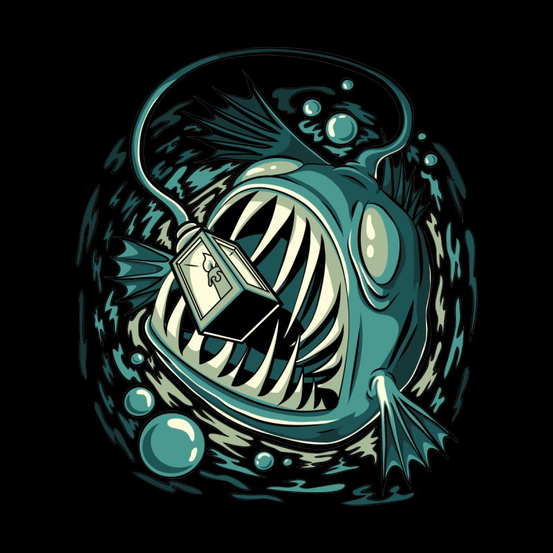 Lantern Fish Men's T-Shirt by Stephen Hartman Illustration Shop