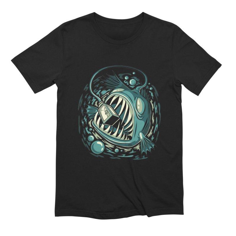 Lantern Fish Men's T-Shirt by Stephen Hartman Illustration Shop