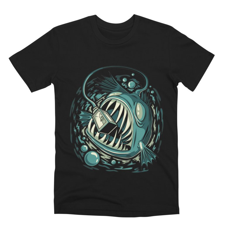 Lantern Fish Men's Premium T-Shirt by Stephen Hartman Illustration Shop