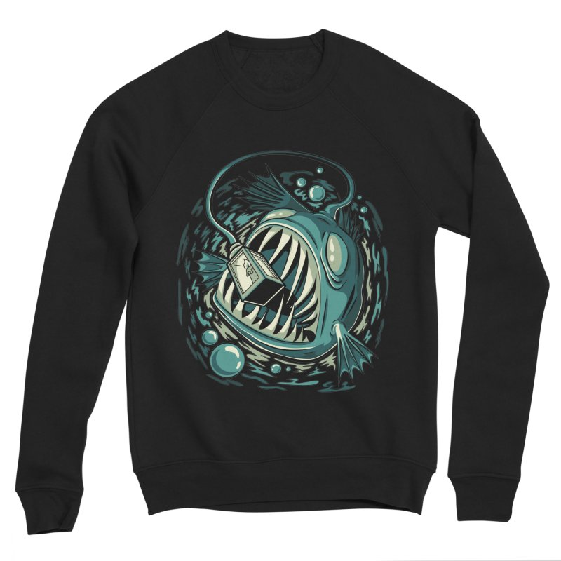 Lantern Fish Men's Sponge Fleece Sweatshirt by Stephen Hartman Illustration Shop