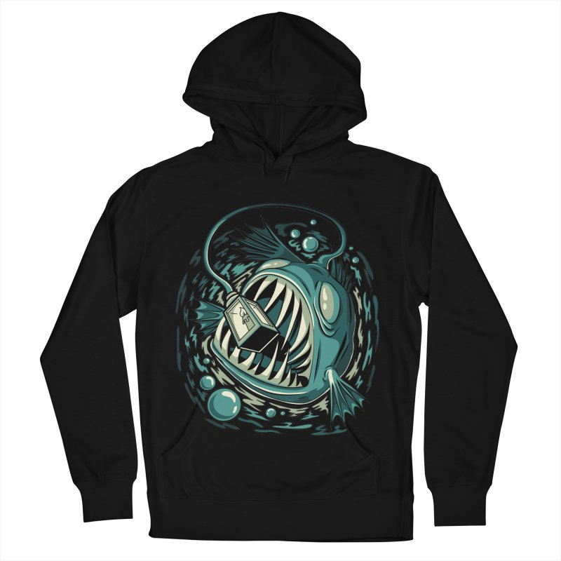 Lantern Fish Men's French Terry Pullover Hoody by Stephen Hartman Illustration Shop