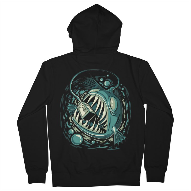 Lantern Fish Men's French Terry Zip-Up Hoody by Stephen Hartman Illustration Shop