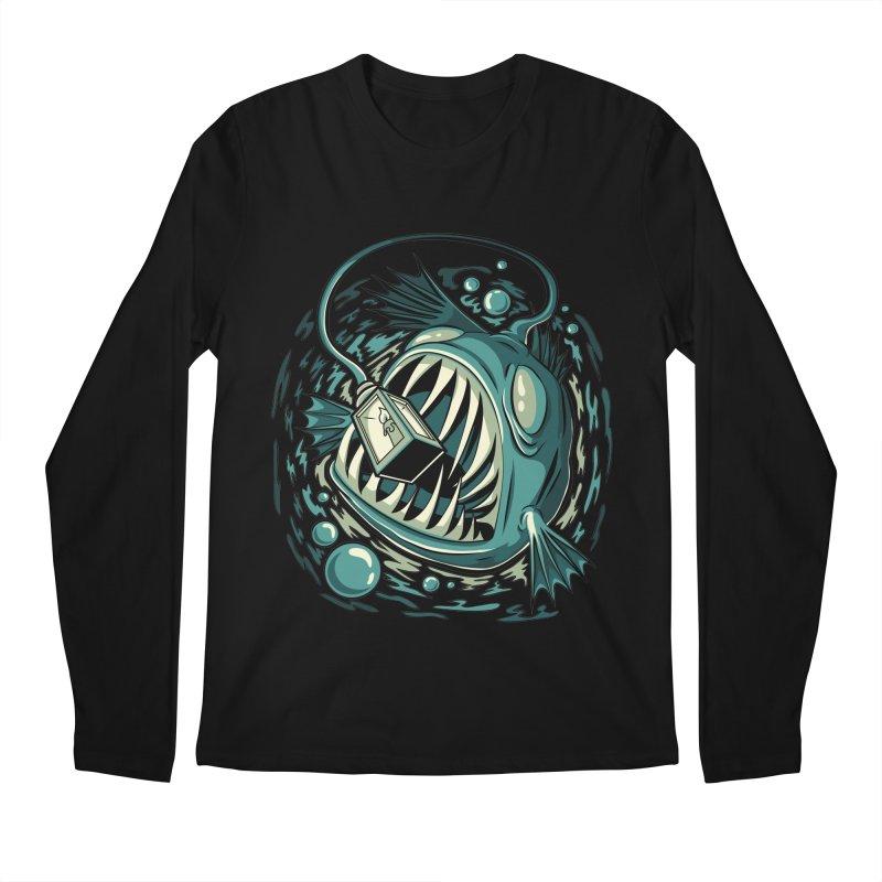 Lantern Fish Men's Regular Longsleeve T-Shirt by Stephen Hartman Illustration Shop