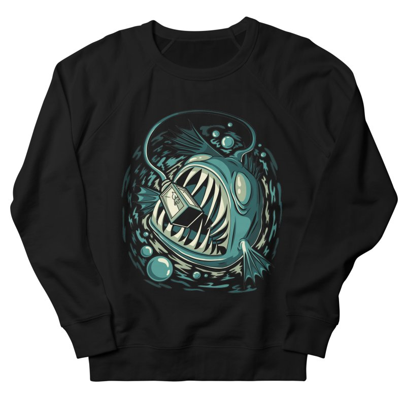 Lantern Fish Men's French Terry Sweatshirt by Stephen Hartman Illustration Shop