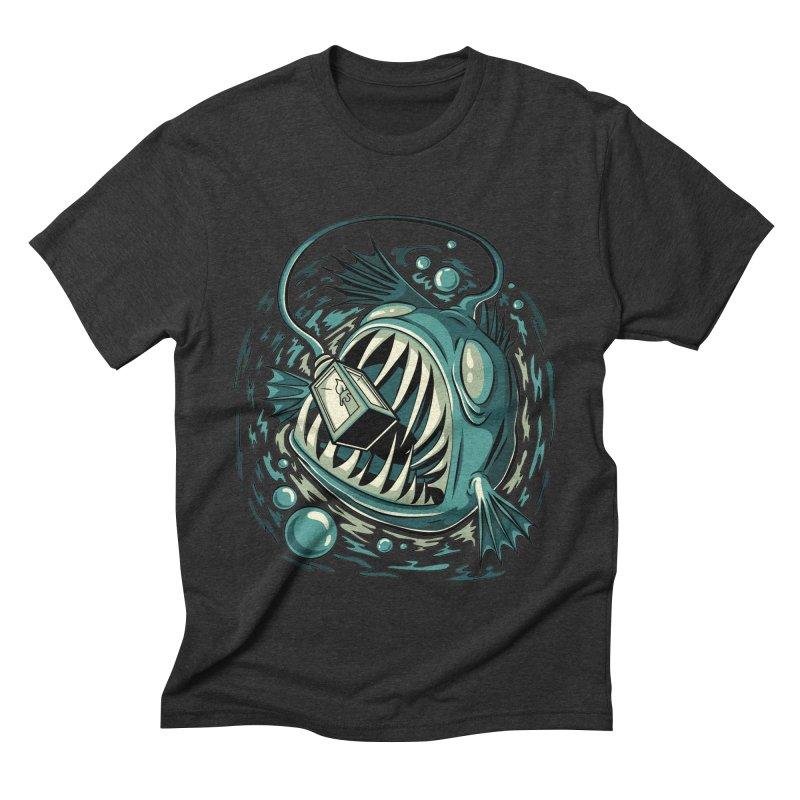 Lantern Fish Men's Triblend T-Shirt by Stephen Hartman Illustration Shop