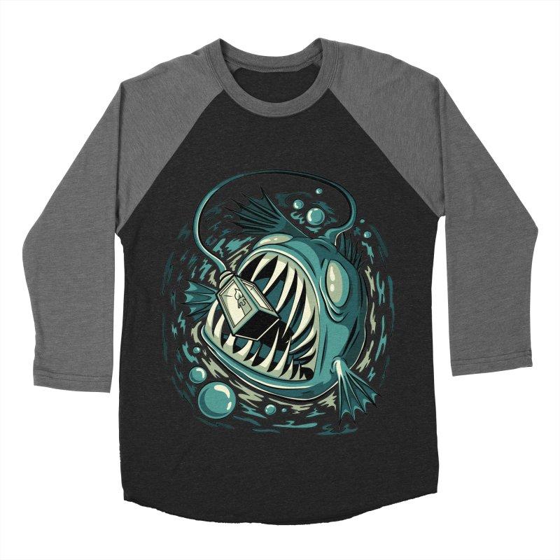 Lantern Fish Women's Baseball Triblend Longsleeve T-Shirt by Stephen Hartman Illustration Shop