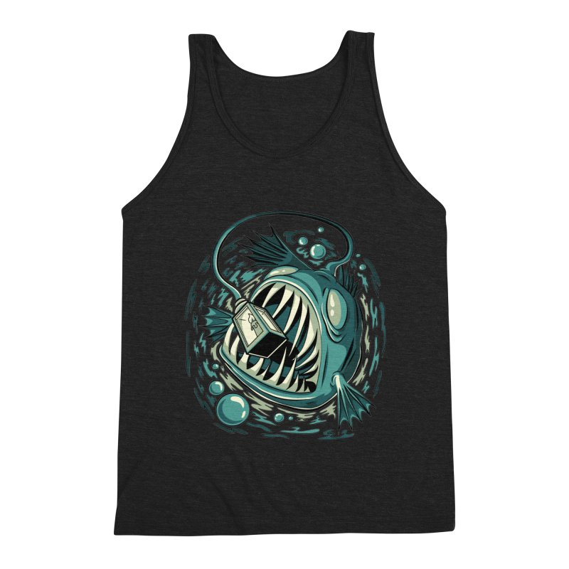 Lantern Fish Men's Triblend Tank by Stephen Hartman Illustration Shop