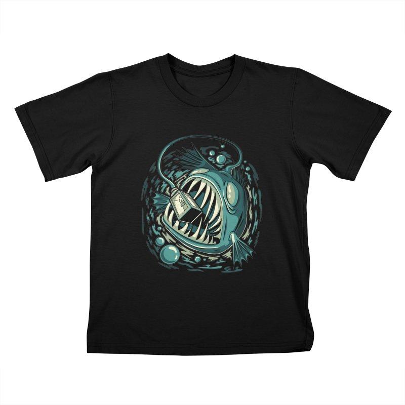 Lantern Fish Kids T-Shirt by Stephen Hartman Illustration Shop