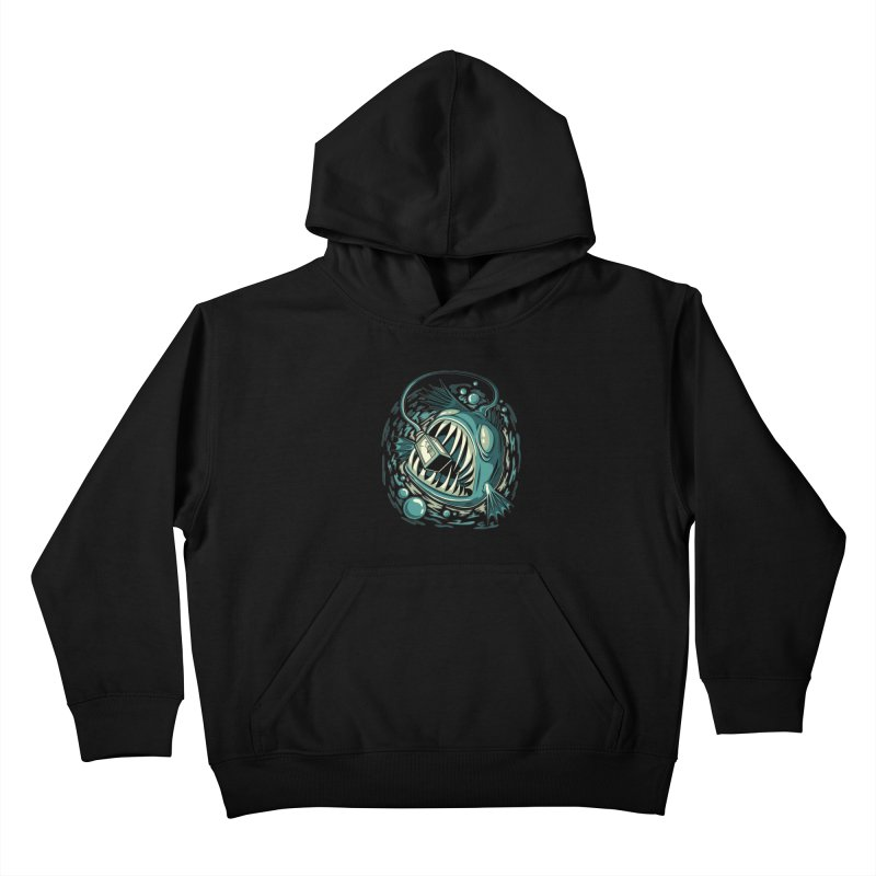 Lantern Fish Kids Pullover Hoody by Stephen Hartman Illustration Shop