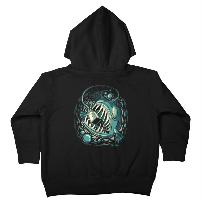Lantern Fish Kids Toddler Zip-Up Hoody by Stephen Hartman Illustration Shop