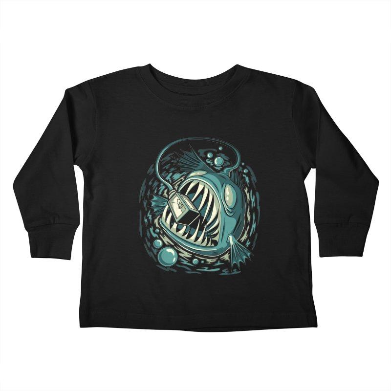 Lantern Fish Kids Toddler Longsleeve T-Shirt by Stephen Hartman Illustration Shop