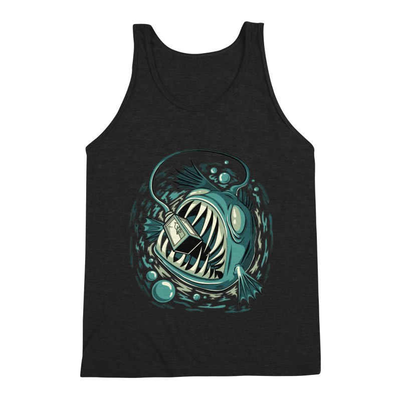 Lantern Fish Men's Triblend Tank by Stephen Hartman Illustration Shop